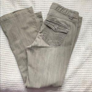 INC Grey flare leg jeans, 10P